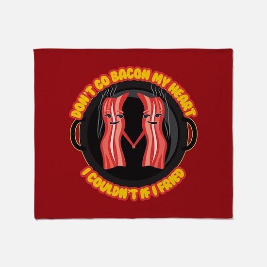 Emoji Dont go Bacon my Heart Throw Blanket