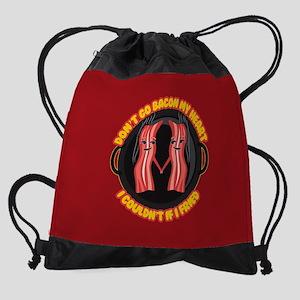 Emoji Dont go Bacon my Heart Drawstring Bag