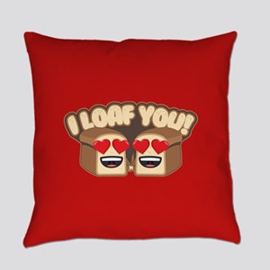 Emoji I Loaf You Everyday Pillow