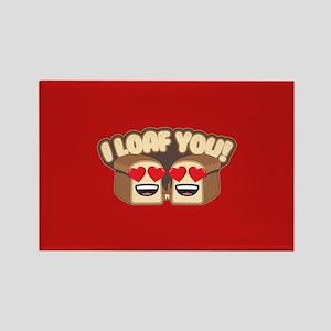 Emoji I Loaf You Rectangle Magnet