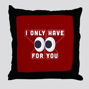 Emoji Only Eyes for You Throw Pillow