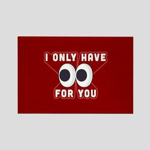 Emoji Only Eyes for You Rectangle Magnet