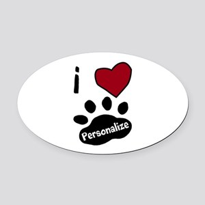 Personalized Pet Oval Car Magnet