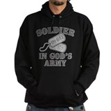 Soldier in god 27s army Dark Hoodies
