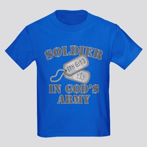 Soldier God's Army Kids Dark T-Shirt