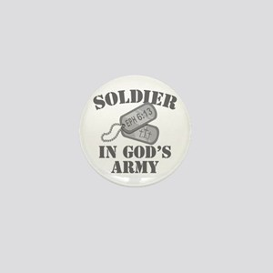 Soldier God's Army Mini Button