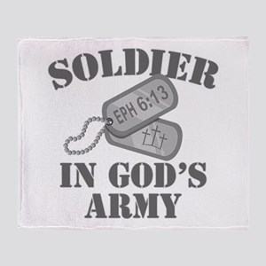 Soldier God's Army Throw Blanket
