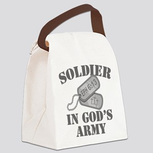 Soldier God's Army Canvas Lunch Bag
