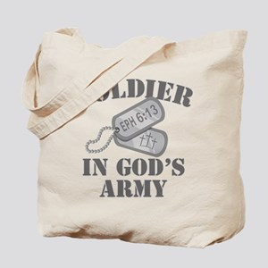 Soldier God's Army Tote Bag