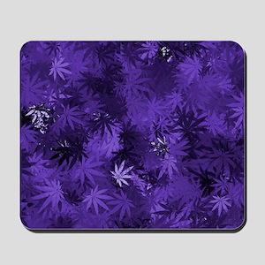 Purple Cannabis Leaves Mousepad