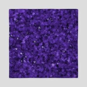 Purple Cannabis Leaves Queen Duvet