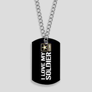 U.S. Army: I Love My Soldier (Black) Dog Tags