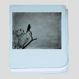 Majestic Crow baby blanket
