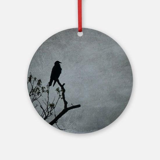 Majestic Crow Round Ornament