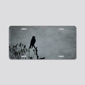 Majestic Crow Aluminum License Plate