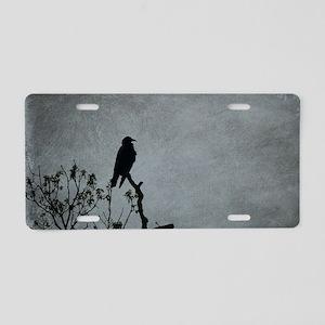 Majestic Crow Aluminum License Plate