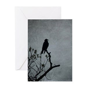 Crow greeting cards cafepress m4hsunfo