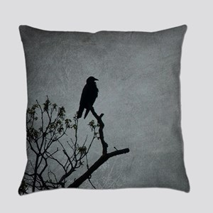 Majestic Crow Everyday Pillow