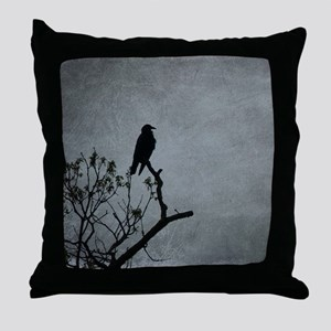 Majestic Crow Throw Pillow
