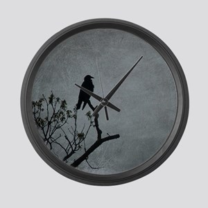 Majestic Crow Large Wall Clock