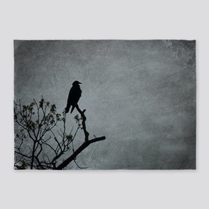 Majestic Crow 5'x7'Area Rug