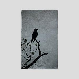 Majestic Crow Area Rug