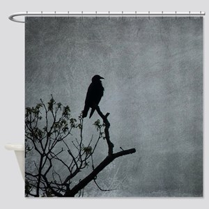 Majestic Crow Shower Curtain