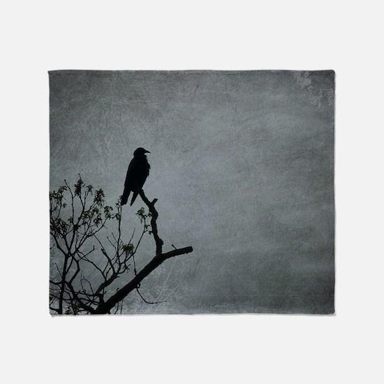 Majestic Crow Throw Blanket
