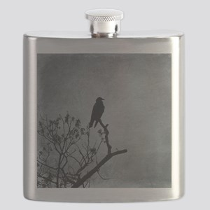 Majestic Crow Flask