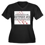 Outpost #31 Women's Plus Size V-Neck Dark T-Shirt