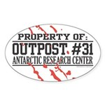 Outpost #31 Oval Sticker