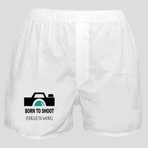 Born to Shoot Forced to Work Boxer Shorts