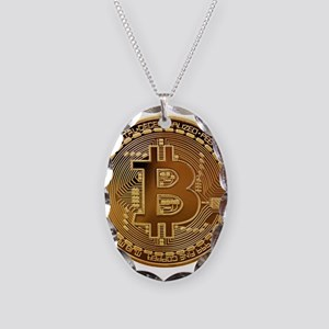 Bitcoin Logo Symbol Design Ico Necklace Oval Charm