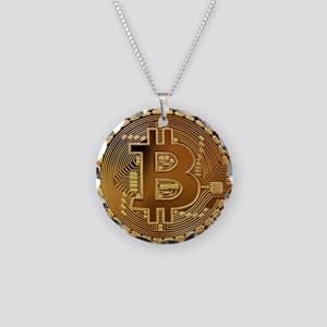 Bitcoin Logo Symbol Design I Necklace Circle Charm