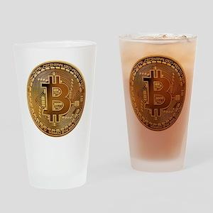 Bitcoin Logo Symbol Design Icon Drinking Glass