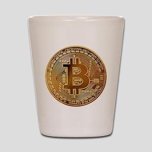 Bitcoin Logo Symbol Design Icon Shot Glass