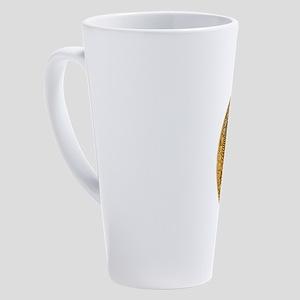 Bitcoin Logo Symbol Design Icon 17 oz Latte Mug