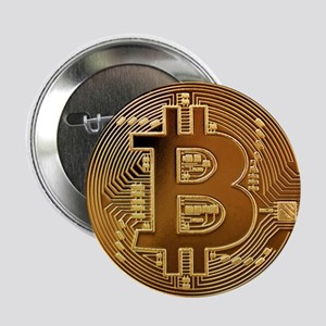 "Bitcoin Logo Symbol Design Icon 2.25"" Button"