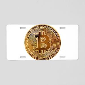 Bitcoin Logo Symbol Design Aluminum License Plate