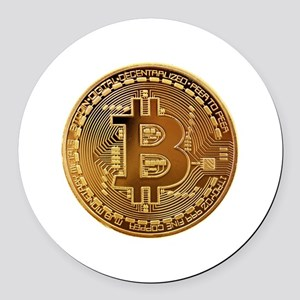 Bitcoin Logo Symbol Design Icon Round Car Magnet