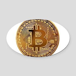 Bitcoin Logo Symbol Design Icon Oval Car Magnet