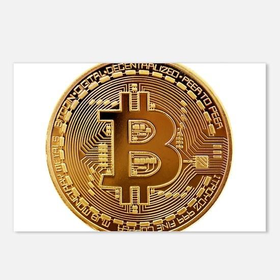 Bitcoin Logo Symbol Desig Postcards (Package of 8)