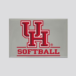 UH Softball Rectangle Magnet
