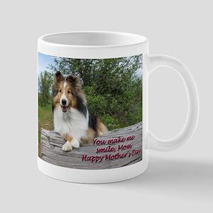 You make me smile, Mom Mugs