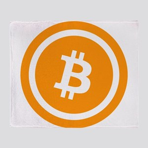 Bitcoin Logo Symbol Design Icon Throw Blanket