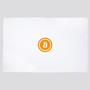 Bitcoin Logo Symbol Design Icon 4' x 6' Rug