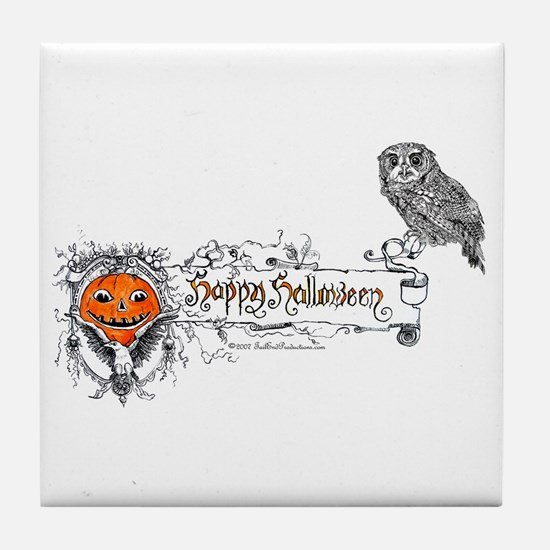 Halloween Owl Tile Coaster