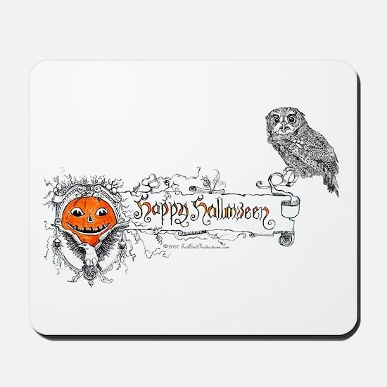 Halloween Owl Mousepad