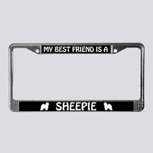 My Best Friend Is A Sheepie License Plate Frame