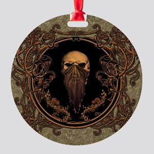 Amazing skull on a frame Ornament